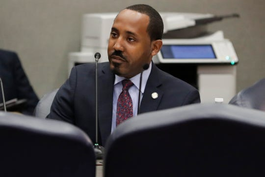 Rep. Ramon Alexander speaks during a meeting of the House Criminal Justice subcommittee at the Capitol Tuesday, Jan. 21, 2020.