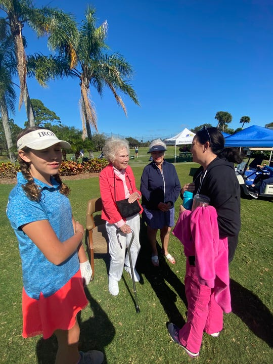 Alma Lee Loy (center left) takes part in the fourth annual Alma Lee Loy Team Challenge at Vero Beach Country Club on Monday, Jan. 20, 2020.