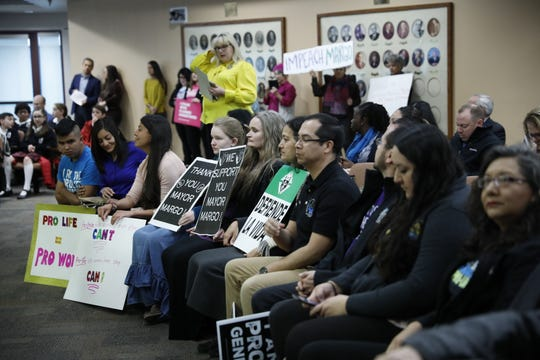 "Residents both protested and supported a mayoral proclamation naming January 13, 2020 as ""National Sanctity of Human Life Day"""