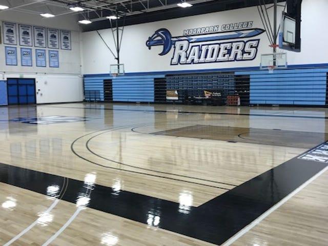 Moorpark College's gym underwent $18 million in renovations.