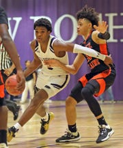New Rochelle defeats White Plains 73-58 during boys basketball game at New Rochelle High School on Jan. 21, 2020.