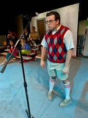 "Luke Draper plays spelling bee contestant William Barfee in ""The 25th Annual Putnam County Spelling Bee."""