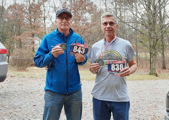 Bob (left) and Herb Michel competed in the JFK 50 mile, America's oldest ultra-marathon in November. The brothers have run in numerous marathons and ultra-marathons over the past 30 years.