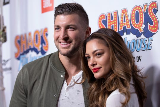 Tim Tebow and Demi-Leigh Nel-Peters at a February 2019 event.