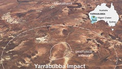 The Yarrabubba crater in Western Australia is now believed to be the world's oldest impact crater, at some 2.2 billion years old.