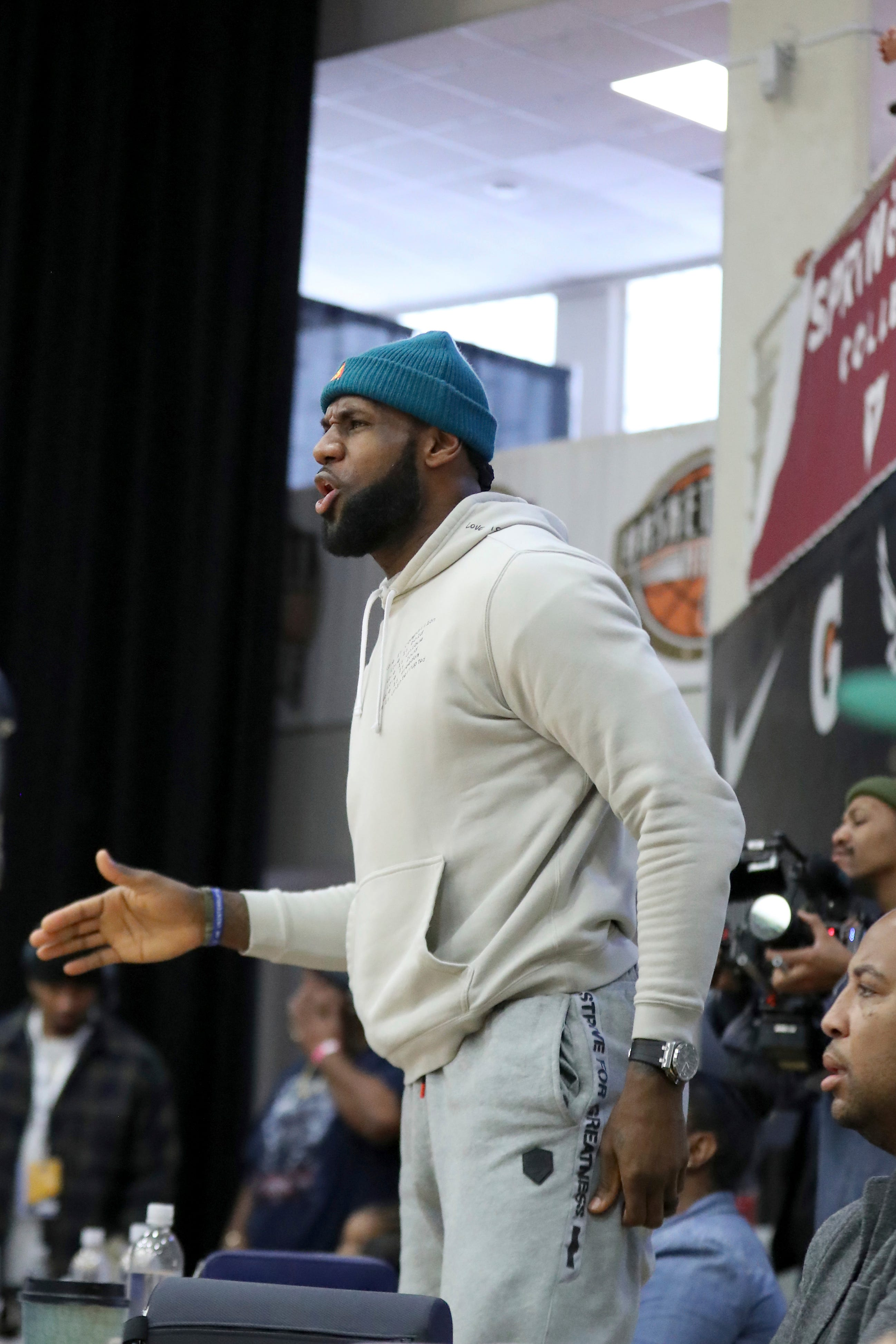 LeBron James on fan who threw something at son during game:  It s just disrespectful
