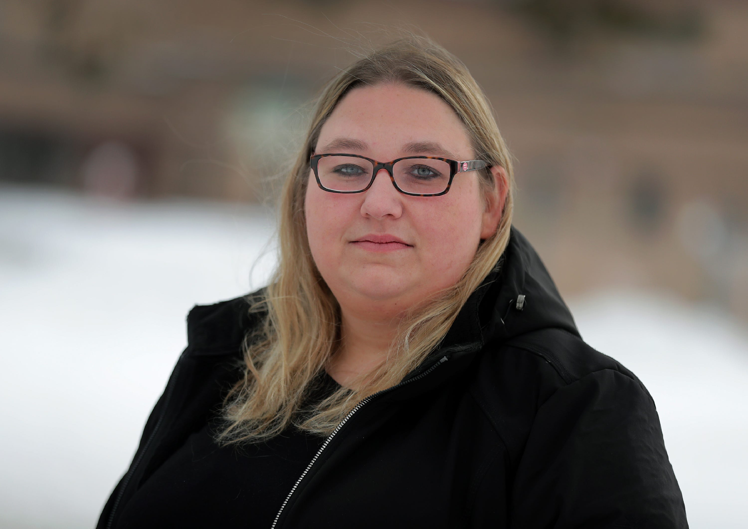 Amber McGinley, photographed Jan. 22, has concerns with the Appleton Area School District's use of seclusion and restraint. Her son, a third grader at Ferber Elementary, was secluded and restrained more than 20 times by the end of second grade.