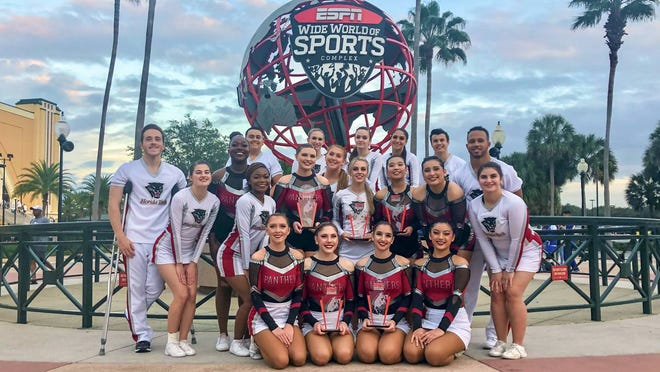 Florida Tech's cheerleaders turned in an impressive performance in Orlando.