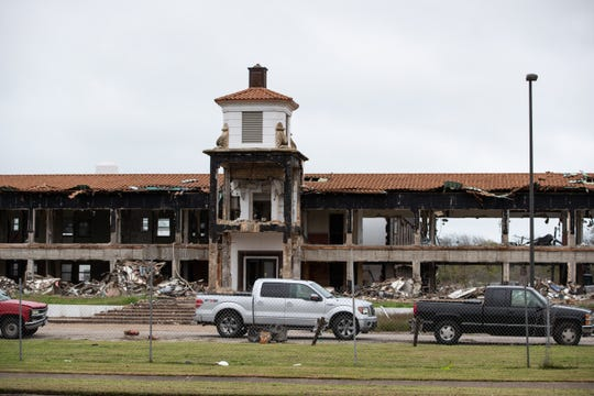 The former Mount Carmel assisted-living in the 4100 block of South Alameda Street is demolished by the Ed Rachal Foundation on Wednesday, Jan. 22, 2020.
