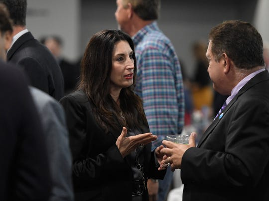 Nueces County Judge Barbara Canales attends the Corpus Christi Regional Economic Development Corporation luncheon, Wednesday, Jan. 22, 2020, at the Congressman Solomon P. Ortiz International Center. Various elected officials attended the event.