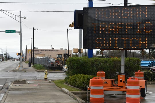 The City of Corpus Christi is reducing traffic on Morgan Avenue to flow one way between Crosstown Expressway and Ocean Drive, as seen photographed here Wednesday, Jan. 22, 2020. The traffic change is scheduled to start Monday, Jan. 27, 2020 and last for a year.