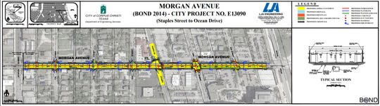 A map shows the Morgan Avenue project that began on Jan. 20, 2020.