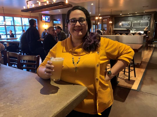 Alexis Degan, executive director of the New Jersey Brewers Association, shown here at Keg & Kitchen in Westmont, advocates for the craft beer industry in the state.