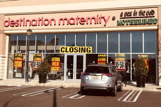 A Destination Maternity store is closing in a shopping center with multiple departing tenants at the former Garden State Park racetrack.