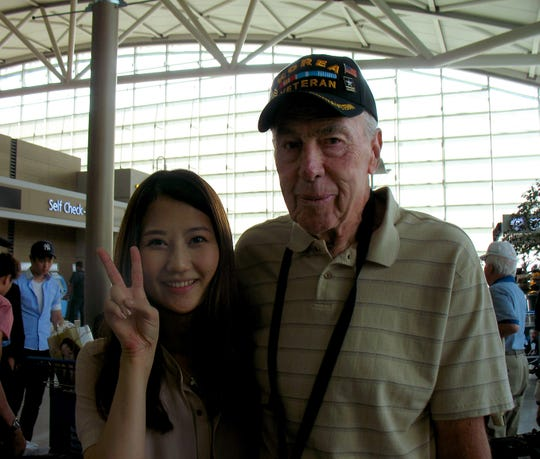 Donald Kleingers went on an Honor Flight and visited Korea after his military service in the Korean War