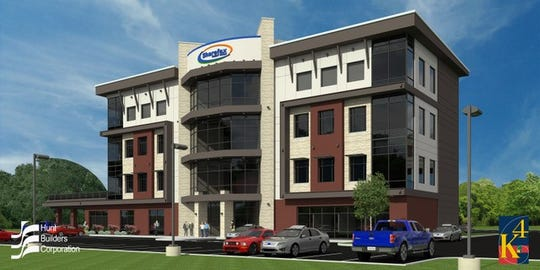 Here's a rendering of the new headquarters Sharefax Credit Union is building in Union Township.