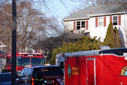 Firefighters battled a house fire on Jill Court in Edison
