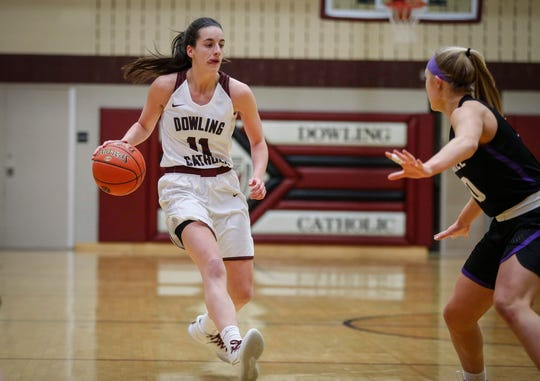 Dowling Catholic's Caitlin Clark has been named the 2019-20 All-Iowa Girls' Athlete of the Year.
