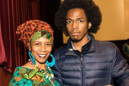 Former Detroit resident Sonya Mull and her son , Kyle Bledsoe