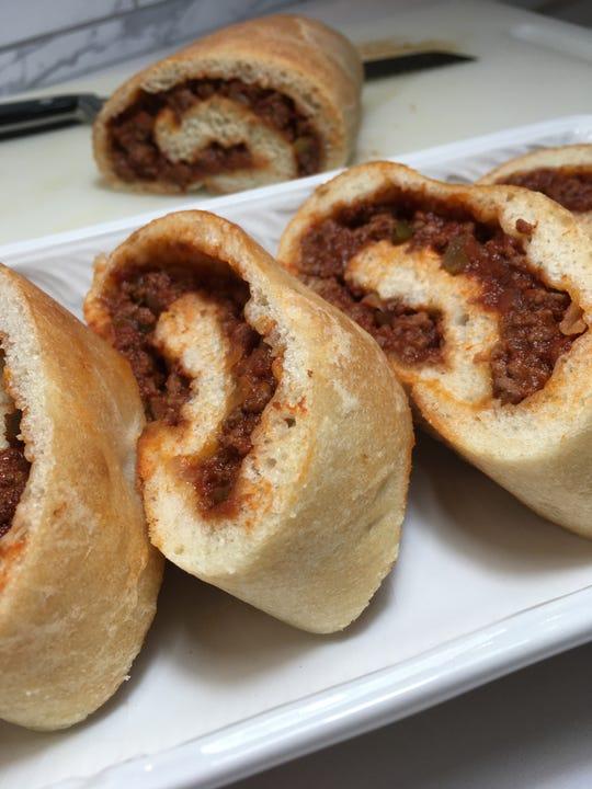 Sloppy Joe Roll is an easy snack for Super Bowl.
