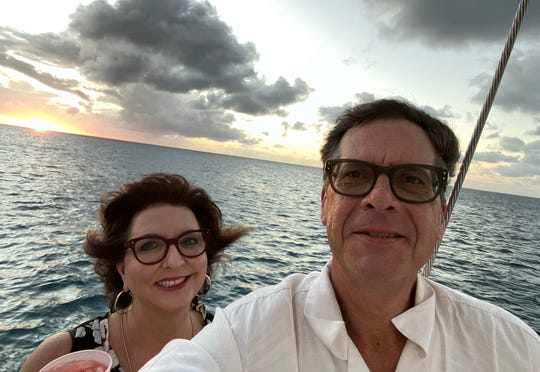 Janice and Jeff Dody of New York will be flying to Metro Airport to pick up their Cadillac from a car concierge they say made car shopping easy. This photo was taken in December during their 30th wedding anniversary in Aruba.
