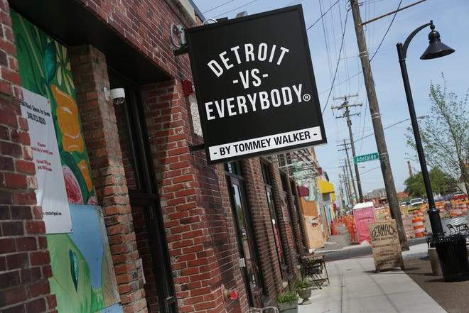 The soon to open Detroit vs. Everybody shop at the Eastern Market in Detroit on Wednesday, June 24, 2015.