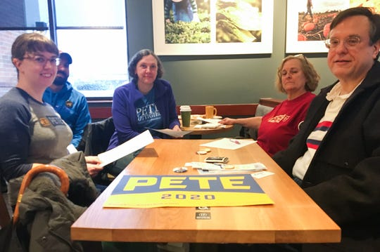 Saturday, Jan. 11 at a Panera in Ann Arbor, where a half dozen supporters of South Bend Mayor Pete Buttigieg gathered to talk about work that needs to be done for the campaign before the Michigan primary.