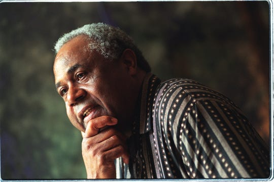 Charlie Primas reminisces about growing up in the Black Bottom neighborhood in Detroit. The museum of African American History has an exhibit coming up about Black Bottom. The interview and photo session took place at his home in Detroit on July 14, 1998.