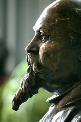 A bronze bust of Hazen S. Pingree resides on the 13th floor of the Coleman A. Young Municipal Building in Detroit. Read more about the life of Hazen Pingree at http://blogs.detroitnews.com/history/?p=1203