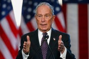 Democratic presidential candidate Michael Bloomberg speaks at the Greenwood Cultural Center in Tulsa, Okla., Sunday, Jan. 19, 2020.