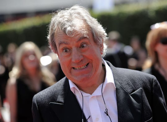Terry Jones  at the Creative Arts Emmy Awards in Los Angeles in 2010. Terry Jones, a member of the Monty Python comedy troupe, has died at 77.