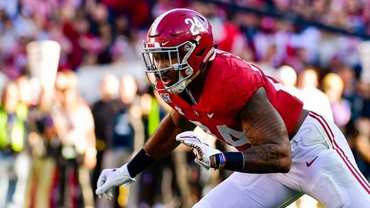 Alabama linebacker Terrell Lewis could help the Lions' pass-rushing needs.