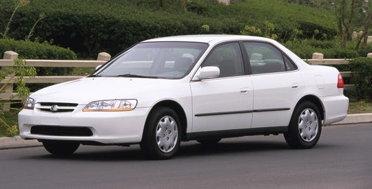 The Honda recall covers certain Honda and Acura vehicles from the 1996 to 2003 model years including the 2000 Accord Sedan LX, shown.