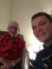 Ben Terwilliger, right, recently interviewed retired Star-Gazette sportswriter Al Mallette about Ernie Davis for his Be Like Ernie Facebook page in 2017.