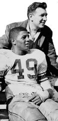 Former Elmira Free Academy star running back Ernie Davis and Al Mallette, who covered the football great for the Star-Gazette.