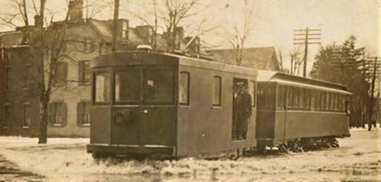 The Lake Shore Electric had a special floodcar clearing the tracks in Fremont in 1912.