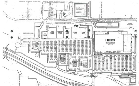 Preliminary Site Plan for Phase III of Veterans Plaza in Cape Coral.