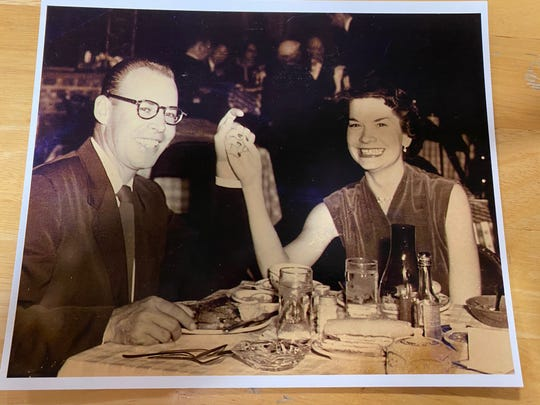 World War II ring owner Wilson Chenevert and his wife Dorothy.