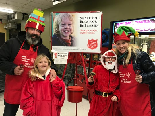 The Snyder Family was among those who volunteered to ring bells for The Salvation Army at Econo Foods in Sturgeon Bay.