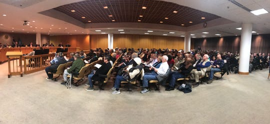Greenville County Council chambers were packed Tuesday night, Jan. 21, 2020, as LGBTQ community members and allies called on the council to rescind a 24-year-old anti-gay resolution. None of the current members of council served in 1996 when the resolution was passed.