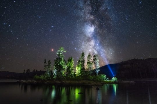 "HONORABLE MENTION - ""Milky Way Over Park Lake"""