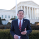 Sen. Steve Daines, R-Mont., talks Wednesday in support of the plaintiffs in Espinoza vs. Montana Supreme Court.