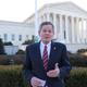 Sen. Steve Daines, R-Mont., talks Wednesday in support of the plaintiffs in Espinoza vs. Montana Supreme Court.