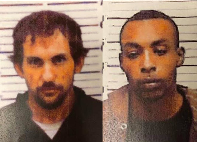 Alexander Knight, left, and Christopher Love are still at large Wednesday, Jan. 22, 2020, after escaping from Covington County Jail along with Dillion Parr on Wednesday, Jan. 15, 2020. Parr was recaptured Friday, Jan. 17, 2020, near Hot Coffee.