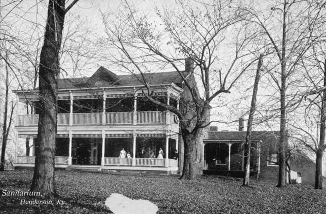 The Home Mission Society operated its sanitarium for the indigent  at 424 Ray St. from 1888 to 1896, at which point it was turned over to the city of Henderson and served as the city hospital until early 1920. The city built a large wooden annex to the rear of the sanitarium building, which was destroyed by fire in mid-1918.