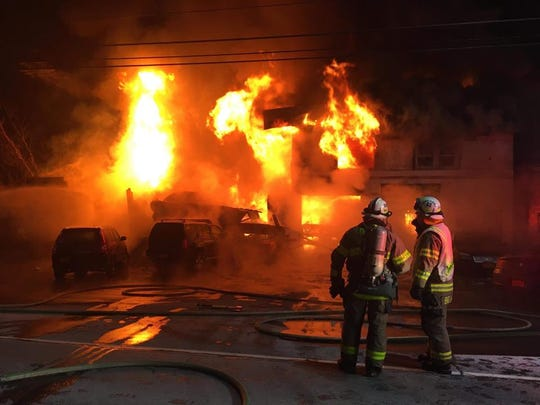 A fire early Wednesday, Jan. 22, 2020, left Cutting's Garage in Dryden a complete loss.