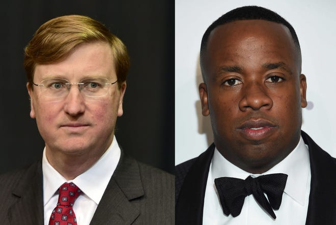"""Yo Gotti, right, signed a letter addressed to Mississippi Gov. Tate Reeves, asking for the governor to fix the """"humanitarian crisis"""" in Mississippi prisons. The letter was published as a full-page ad in the Clarion Ledger's print edition on Wednesday, Jan. 22, 2020."""