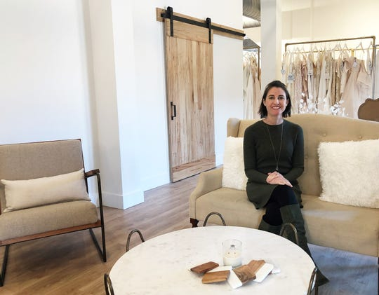 Loveliest Bridal Boutique owner, Anna Wiggins in her new store location at 820 Sevier Avenue on Jan. 21, 2020. A separate entrance helps to create two distinct spaces to accommodate more than one bride at a time.