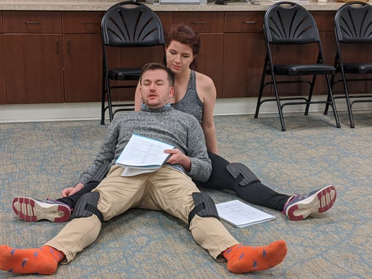 "H. Caitlin Corbitt and Nathan McGhee star in ""Raft,"" premiering at the Tennessee Stage Company's New Play Festival."