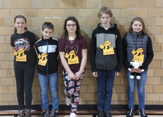 This year's spelling bee winners by grade are: Fourth grade – Kyndale Parker, fifth grade – Devon Lent, sixth grade – Saige Trainor, seventh grade – Lucien Eakins, and eighth grade – Roni Rarey.The spelling bee champion is Roni Rarey.